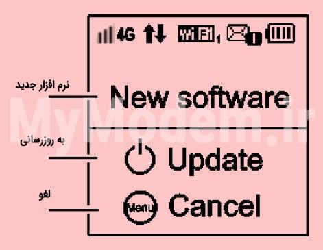 صفحه بهروزرسانی مودم ایرانسل E5372 | مودممن